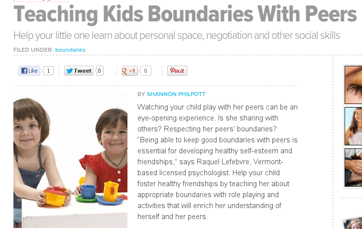 Teaching kids with boundaries article
